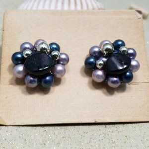 Vintage Japanese Clip On Earrings Evening